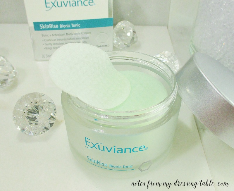 Exuviance SkinRise Bionic Tonic Offers a Firmer and More Radiant Complexion - notesfrommydressingtable.com