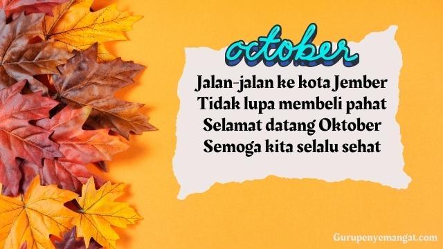 Pantun Menyambut Bulan Oktober