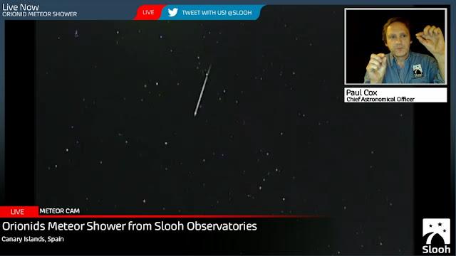 Orionids meteors - chuva de meteoros Orionidas 2016