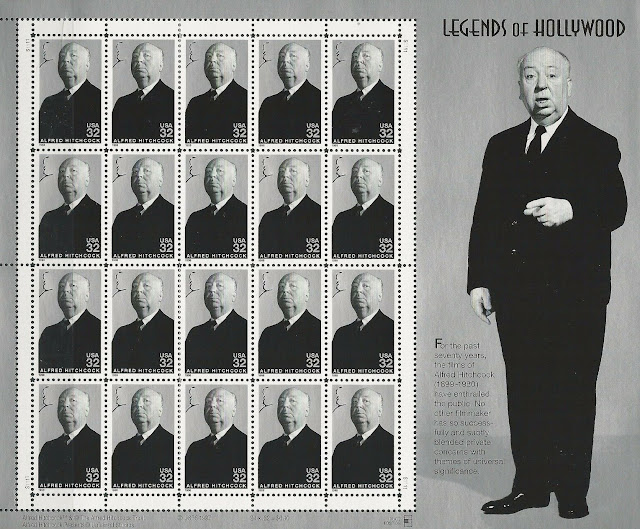 Alfred Hitchcock Legends Of Hollywood Sheet