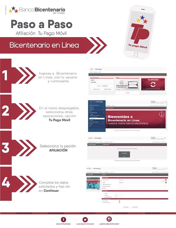 Banco Bicentenario del Pueblo habilita su plataforma para afiliación o desbloqueo de su Pago Móvil