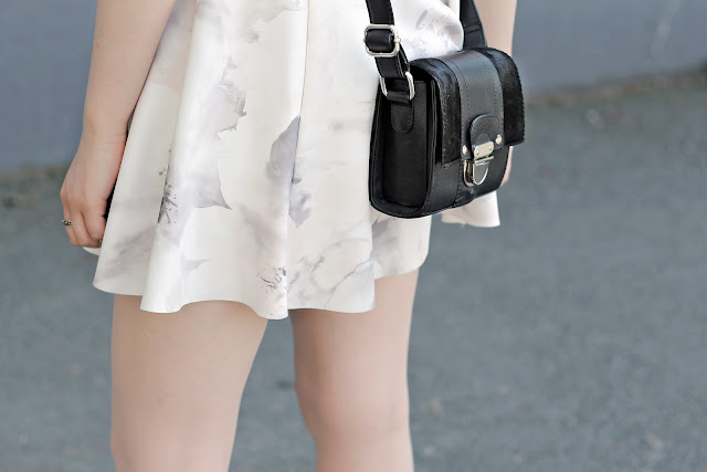 black mini bag silver hardware