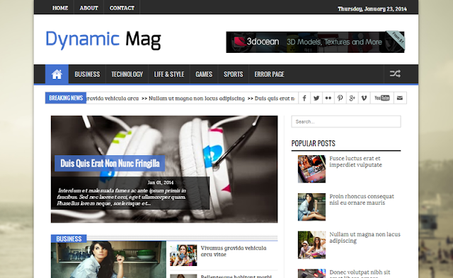 Dynamic Mag Responsive Blogger Templates