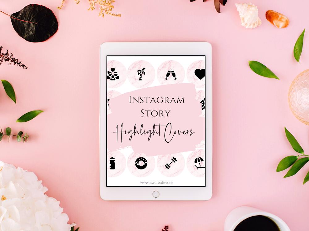 Omslagsbilder till dina höjdpunkter för Instagram Stories - 2 Paket - { Gratis nedladdning! }