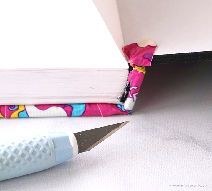 DIY Book Recover with Duck Tape