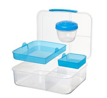 Sistema lunchbox met yoghurt bakje en componenten
