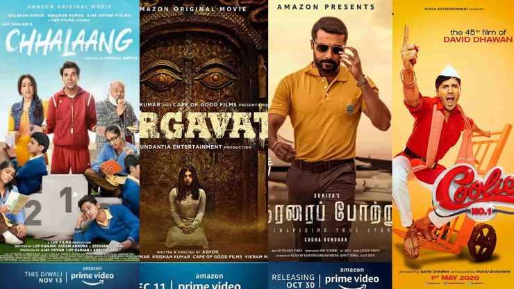 Chhalaang, Coolie No.1, Soorarai Pottru aur Durgavati ab Prime Video par hogi release