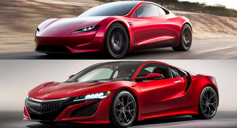 Car Design Student Thinks Tesla Copied Acura's NSX, What Do You Say on 2016 ford gt vs acura nsx, honda vs acura integra, honda acura nsx concept, 1990 acura honda nsx, honda civic with nos,