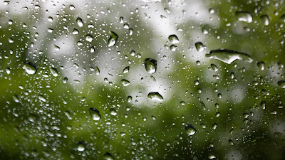 Wallpaper water drops on glass free Full HD