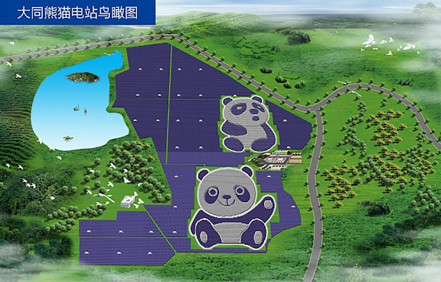 China Started Building Panda Shaped Solar Power Plants To Save Earth From Climate Change