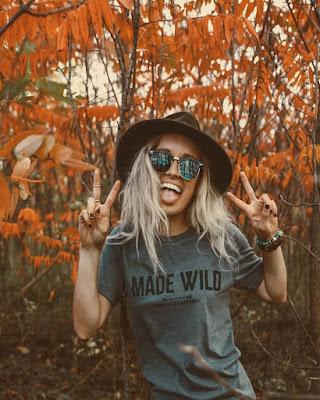 hipster en época de otoño foto tumblr