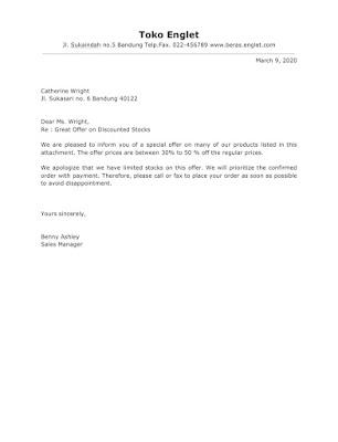 Offer Letter Samples