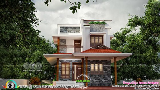 3 bedroom mixed roof house plan
