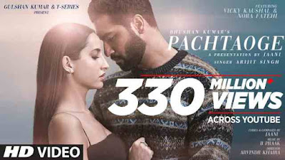 Pachtaoge lyrics English Hindi Arijit Singh