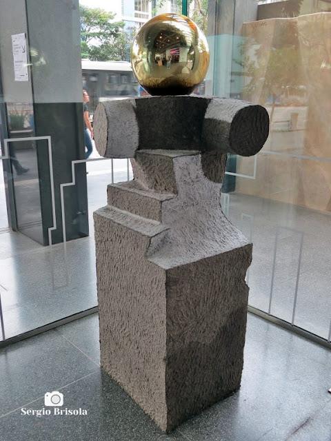 Close-up da Escultura Astronauta - Sesc Avenida Paulista - São Paulo