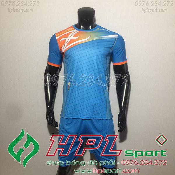 Áo bóng đá ko logo Zavikia HAT TA Màu Xanh