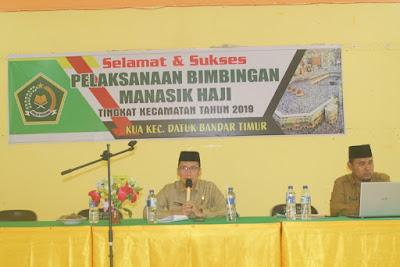 Kakankemenag Tanjungbalai Jadi Narasumber Manasik Haji Tingkat Kecamatan
