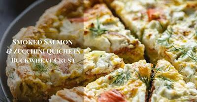 Smoked Salmon & Zucchini Quiche in Buckwheat Crust
