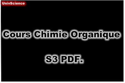 Cours Chimie Organique SMP S3 et SMC S3 PDF.