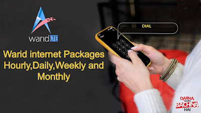 Warid internet packages - Hourly,Daily,Weekly and Monthly 4G Bundles