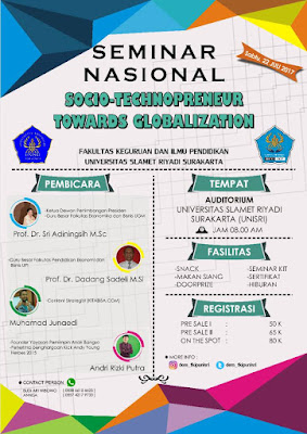 Seminar Nasional: SOCIO-TECHNOPRENEUR TO WARDS GLOBALIZATION