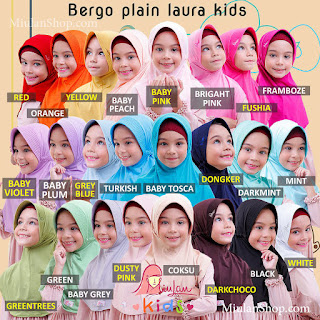 jilbab anak miulan bpl kids dusty pink new