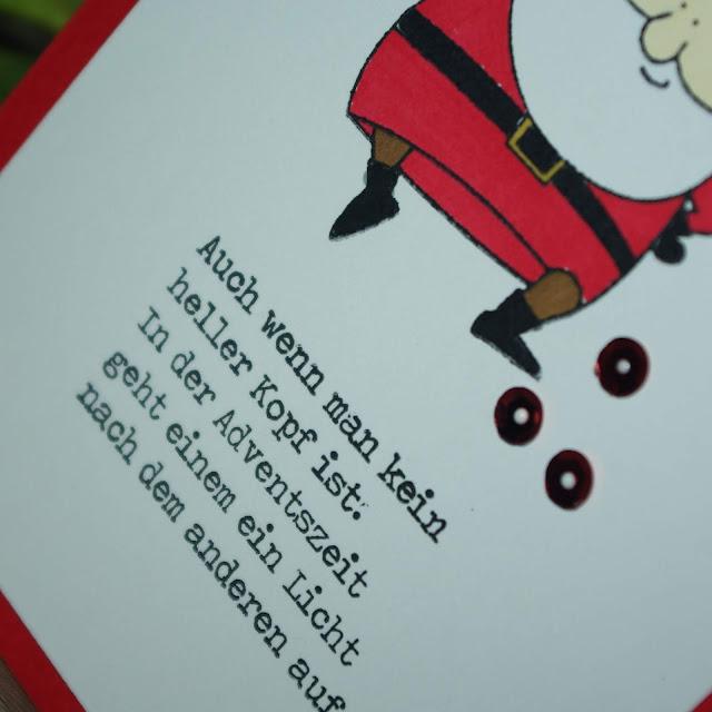 [DIY] Last Minute Weihnachtskarte Frecher Weihnachtsmann
