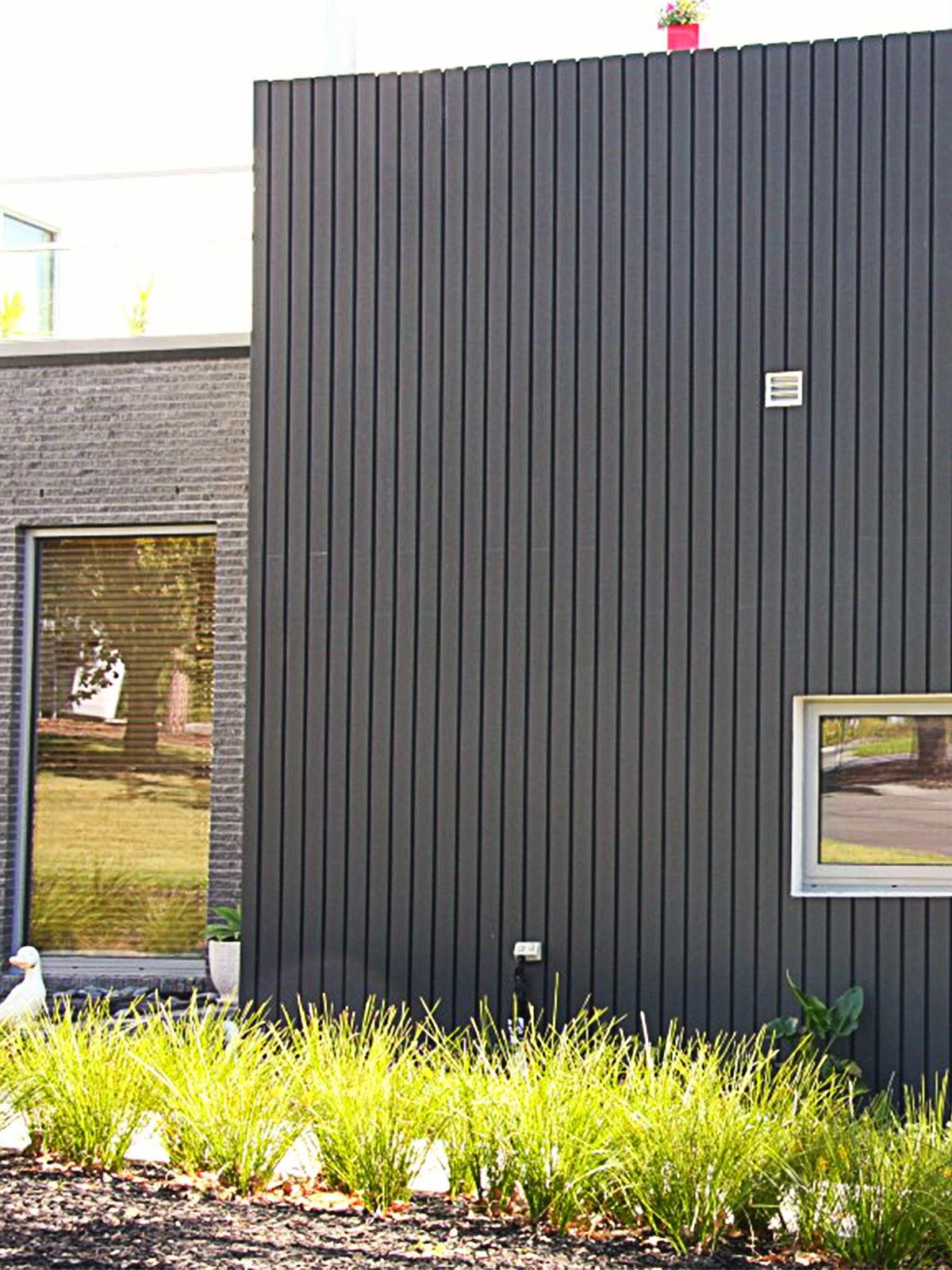 fatade case moderne cu panouri decorative caneluri, termosistem decorativ