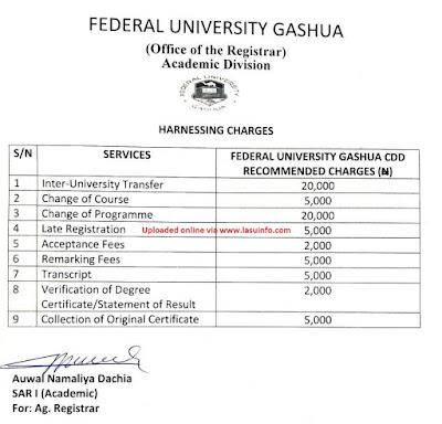 FUGashua School Fees 2019/2020 [100l, DE & Returning Students]