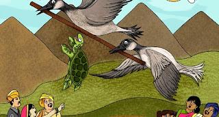 Broasca țestoasă și gâștele: Poveste cu tâlc din Panciatantra