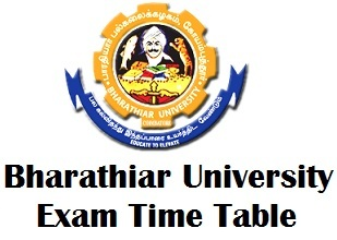 Bharathiar University Distance Education Timetable 2018