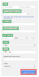 Daftar Akun Gmail Terbaru