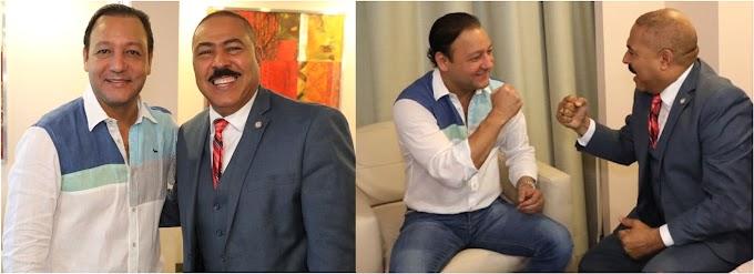 Polanco y Abel intercambian  impresiones sobre situación de diáspora y RD durante encuentro amistoso en Nueva York