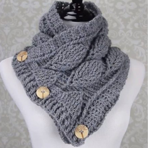 Crochet Leaf Stitch Cowl - Free Pattern