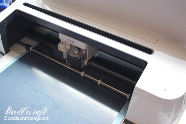 "Step 1: Cut Iron-on Begin by importing the design into Cricut Design Space. Save it as a cut file, then import onto canvas. Make the image the size you want, then click the cut button. Mirror the image and select the material (iron-on).   Place the iron-on on the mat with the shiny side down and then insert it into the machine. Click the flashing ""GO"" button and cut it out."