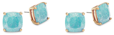 Kate Spade Faceted Square Stud Earrings $15 (reg $38)