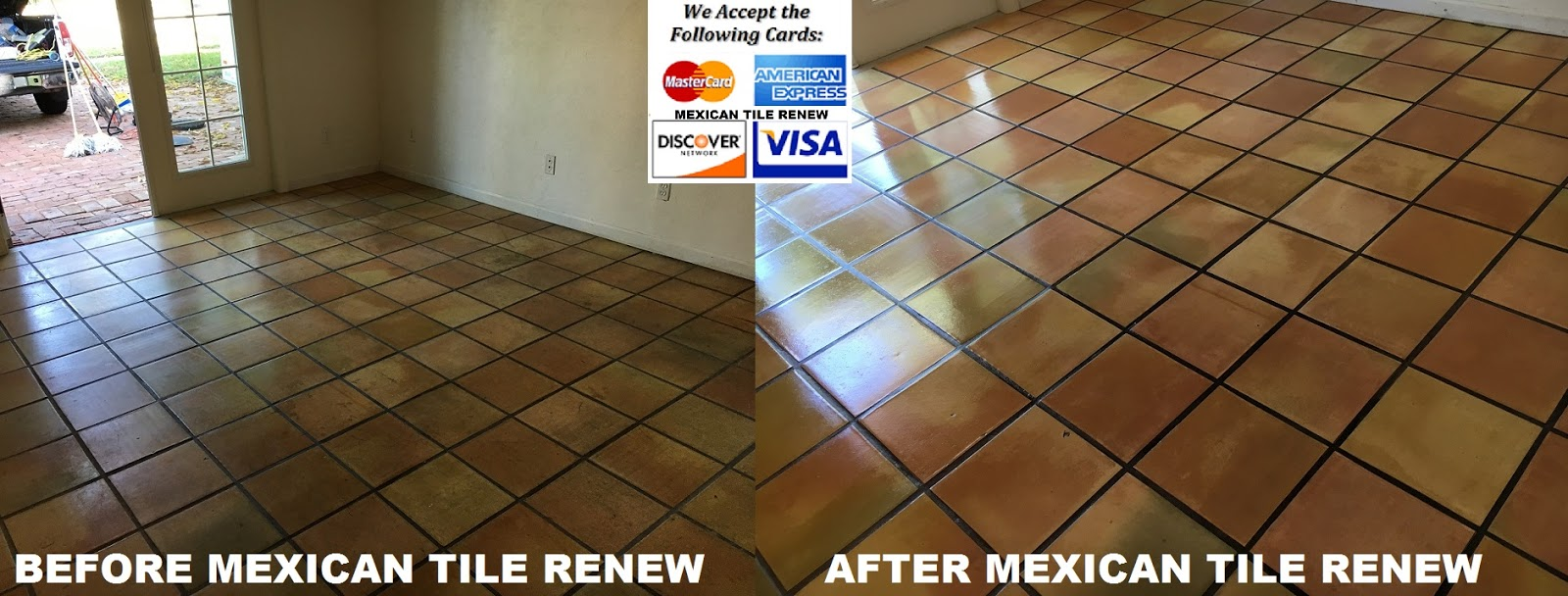 mexican tile refinish make like new sarasota fl since 1995