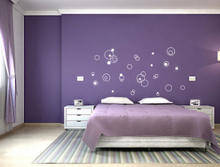 Kamar tidur untuk dewasa warna ungu purple