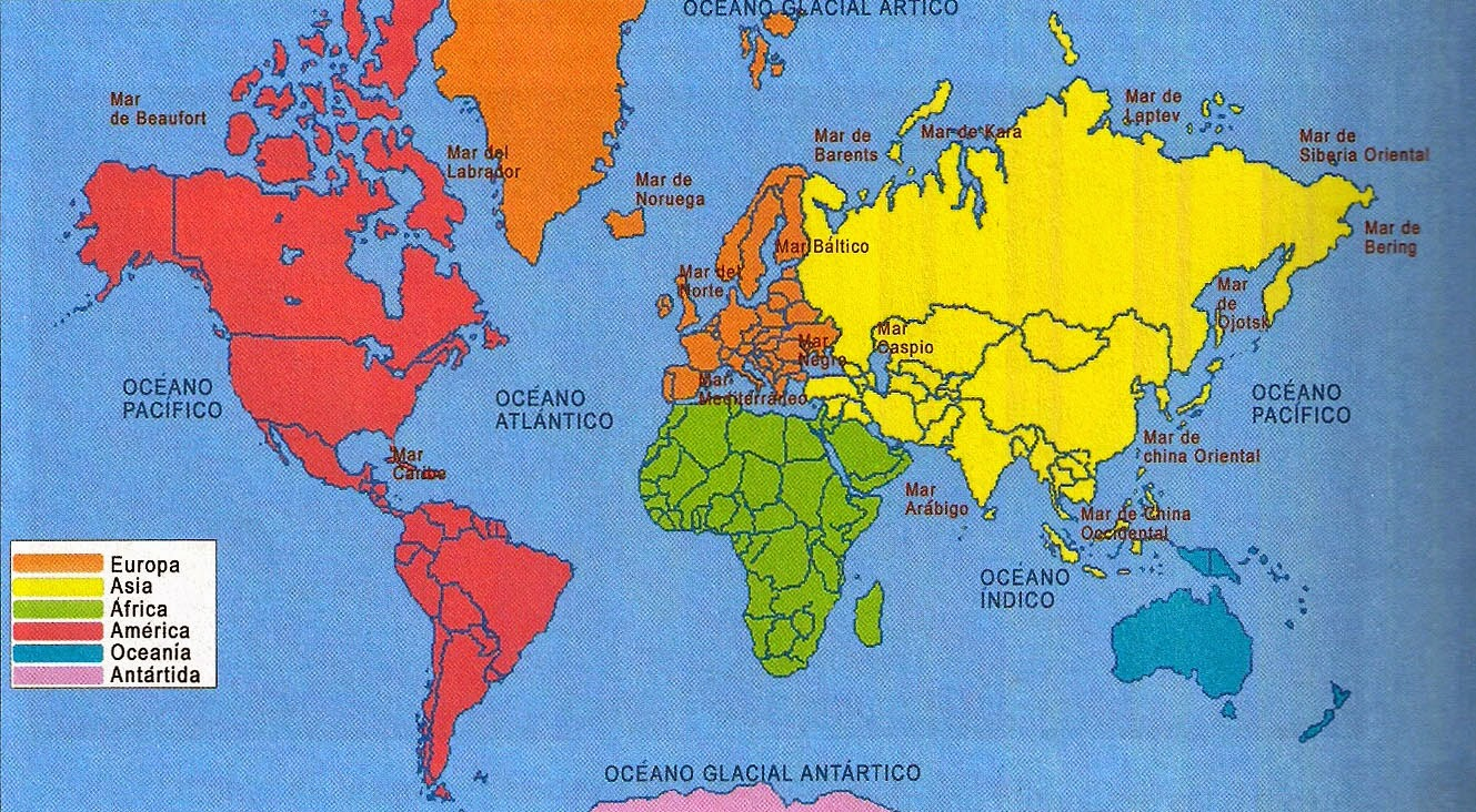 ¿Cuántos Y Cuáles Son Los Continentes?