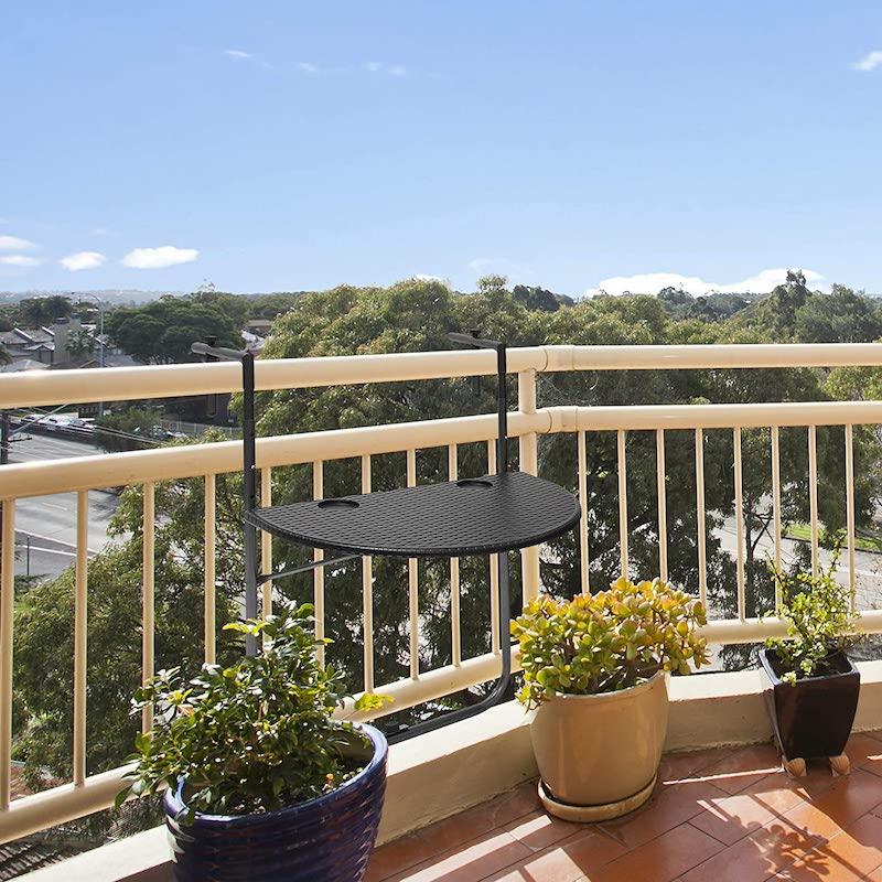 mesa colgante de balcón plegable
