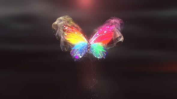 Colorful Butterfly Logo Reveal 4K[Videohive][After Effects][28927421]