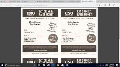 Come Support A Dough Rai$er to benefit Make Change for Change!