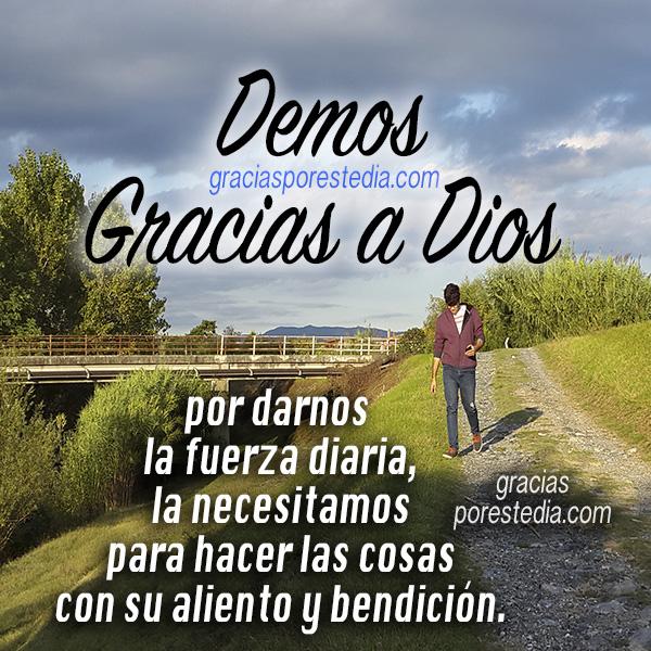 Frases cortas para dar gracias a Dios, imágenes cristianas de agradecimiento a Dios por este día por Mery Bracho.