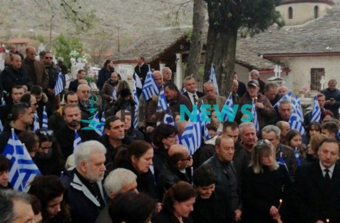 Θρήνος στο μνημόσυνο του Κωνσταντίνου Κατσίφα στους Βουλιαράτες (Βίντεο)