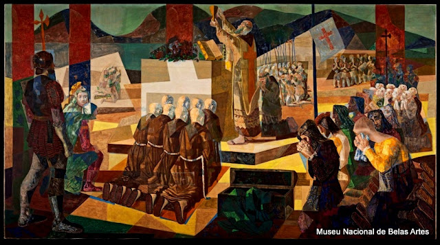"""""""A Primeira Missa no Brasil"""", de Candido Portinari"""