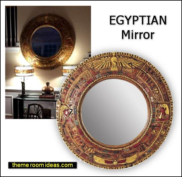 Temple of Luxor: Egyptian Grand-Scale Mirror Wall Sculpture egyptian mirror