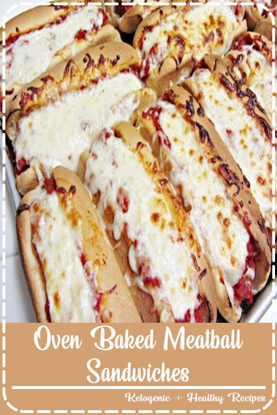 These Oven Baked Meatball Sandwiches are a perfect easy dinner idea for busy days Oven Baked Meatball Sandwiches