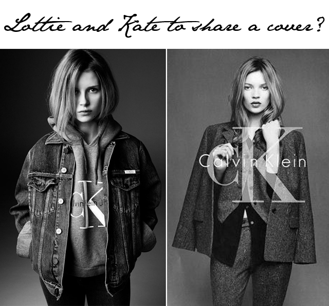 Lottie and Kate Moss