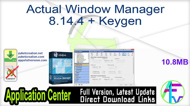 Actual Window Manager 8.14.4 + Keygen