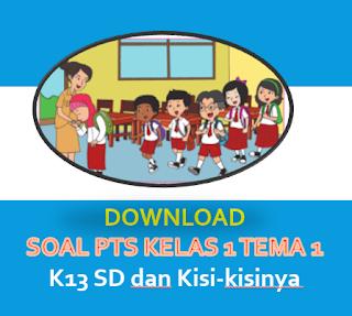 Soal PTS Kelas 1 Tema 1 K13 SD dan Kisi-kisinya